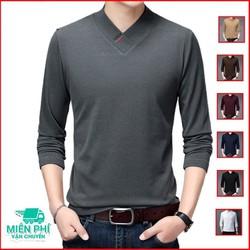 Áo thun nam tay dài TN173 cổ tim kiểu mới nhiều màu áo phông
