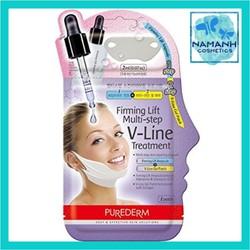 Set 3 mặt nạ nâng cơ, giảm mỡ thừa tạo hình khuôn mặt V-Line Purederm Firming Lift Multi-step V-Line Treatment 10g