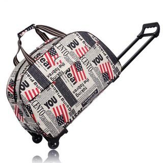 Túi kéo du lịch Vải polyester chống thấm bền bỉ, thiết kế tay cầm tiện lợi 60 x 35x 24cm - TK001 thumbnail