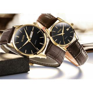 Đồng hồ đôi dây da Đồng hồ đôi dây da OLEVS 6898 thời trang chống thấm nước - Giá 1 chiếc 7