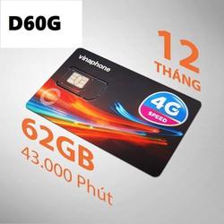 Sim 4g vina D60G GIỐNG V120 VIETTEL số đẹp giá rẽ miễn phí nghe gọi lên mạng 60gb tháng