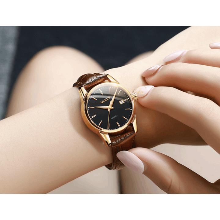 Đồng hồ đôi dây da Đồng hồ đôi dây da OLEVS 6898 thời trang chống thấm nước - Giá 1 chiếc 19