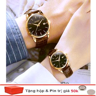Đồng hồ đôi dây da Đồng hồ đôi dây da OLEVS 6898 thời trang chống thấm nước - Giá 1 chiếc thumbnail