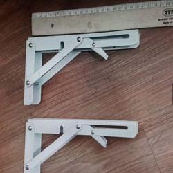 Bản lề gấp gọn thông minh, bộ giá đỡ ke bàn gấp thông mihh treo tường Sunha Size 25cm MBS4979