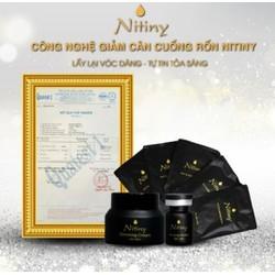 bộ 3 sản phẩm giảm cân cuống rốn Nitiny ( nhỏ tinh chất vào rốn giảm cân)  Hàn Quốc chính hãng