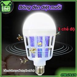 Bóng đèn LED diệt muỗi đa năng 15W - 3 chế độ (tắt mở liên tục để chuyển sang chế độ khác nhau - ánh sáng trắng 15W - đèn ngủ - đèn diệt muỗi)