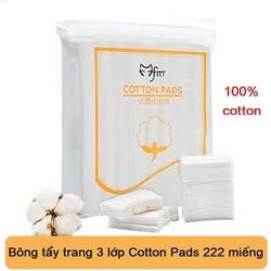 Gói 222 miếng bông tẩy trang cotton