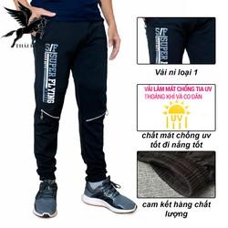 quần thể thao nam dài thun LOẠI 1 chống UV đi nắng cực thoải mái loại quần dài thun nam vải mát DN30