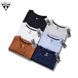 Áo Thun Nam cổ tròn TSIMPLE, Áo Phông Nam basic trơn cotton ngắn tay vải co giãn, dày dặn , chuẩn form Nhiều màu