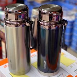 [ SIÊU TO ] Bình nước giữ nhiệt 1500ml Thép Không Rỉ - Nắp Tráng Gương Kiểu Dáng Đẹp Mắt - Giữ Nhiệt Siêu Lâu