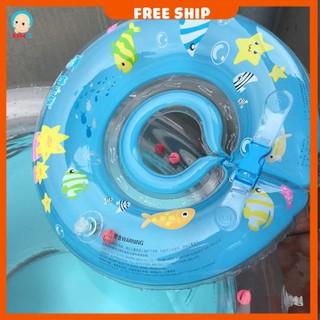 Phao bơi cho bé, phao bơi đỡ cổ chống lật an toàn cho bé Shop Babe K - PHAO_BOI-XANH thumbnail