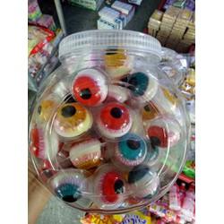 (mới) 1 hộp 40 viên kẹo dẻo hình mắt loại ngon
