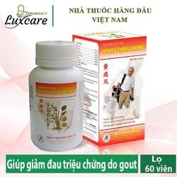 HOÀNG THỐNG PHONG - Giúp tăng cường chức năng gan thận, giảm acid uric trong máu (Lọ 60 viên)