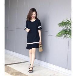 Đầm suông nữ phối ren thời trang