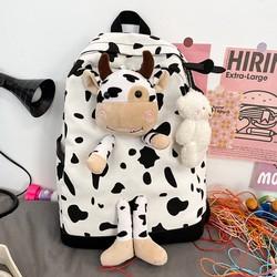 Balo Ulzzang Bò Sữa Siêu Dễ Thương 2021 - Kèm video thật ( tặng sticker )