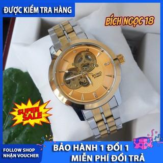 Đồng hồ cơ lộ máy byino 8082, thiết kế tinh xảo, lộ máy cót, thép không gỉ 316L, chống nước 3ATM - đồng hồ byino 8082 thumbnail