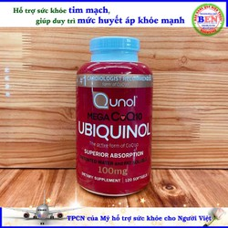 Viên uống hỗ trợ tim mạch và huyết áp Qunol Mega CoQ10 100 mg 120 viên