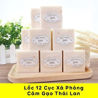12 Cục Xà Phòng Kích Trắng Da Cám Gạo Jam Rice Milk Soap Thái Lan - 12 CỤC CÁM GẠO thumbnail