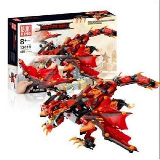 Đồ chơi xếp hình lego not 485 khối lego Mould King 13019 Rồng lửa Ninjago có điều khiển cho trẻ em - 13019 thumbnail
