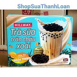 Trà sữa trân châu Hillway Xoài hộp 5 gói + Gói trân châu kèm theo