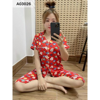 Set Bộ Lụa Pijama Lửng Siêu Mịn Mát - SBKT_9017 thumbnail