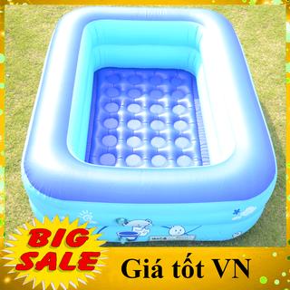 Bể bơi phao cho bé hình chữ nhật họa tiết dễ thương (Kích thước 120 x 95 x 35 cm) giúp bé tập bơi và vui chơi trong thời tiết nắng nóng, bể tắm cho bé - Bể 1m2 thumbnail