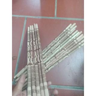 Cầu ngang gỗ khắc hoa văn sẵn dài 40cm - cầu ngang 4