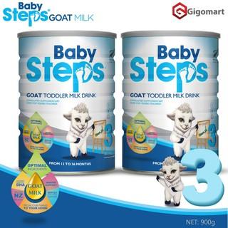Sữa dê Úc Baby steps số 3 ( dành cho trẻ từ 1t-3t) lon 900g date T9 21 - SDUBS3 thumbnail