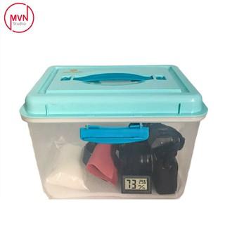 Combo hộp chống ẩm 6 lít dòng 2 khóa bảo quản máy ảnh film và mirroless có kích thước 24.5x16x17.5 cm kèm quà tặng - MVN [ĐƯỢC KIỂM HÀNG] 42866373 - 42866373 thumbnail