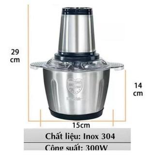 [Miễn Phí SHIP] Máy xay thịt cá inox 304 cao cấp, Máy xay thịt đa năng, xay thực phẩm - siêu khỏe - skus1237 thumbnail