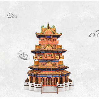 Đồ chơi lắp ghép gỗ 3D Mô hình Capital Pavilion HG-J009 Laser - HG-J009 thumbnail