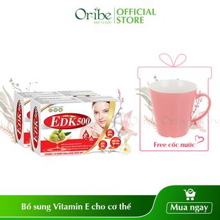 [TẶNG 1 cốc nước xinh xắn] Combo 2 Hộp Viên Uống Bổ Sung Vitamin E EDK500 - Giúp Tăng Cường Chống Oxy Hóa, Trẻ Hóa Và Làm Đẹp Da - COMB16 thumbnail