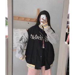 Áo khoác bomber nữ , áo khoác dù lót das dày kiểu cánh dơi