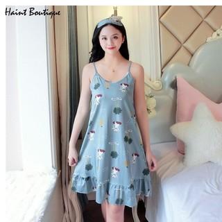 Váy ngủ Haint Boutique thiết kế 2 dây đuôi cá họa tiết dễ mặc vn15 - vn15 thumbnail