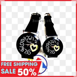 đồng hồ cặp 2 cái nam nữ thời trang tim vàng - captimvang01 thumbnail