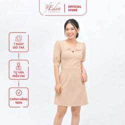Váy Đầm Công Sở Nữ Thời Trang Eden Tay Lỡ Cổ Nơ Cách Điệu - D413