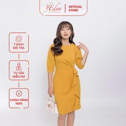 Váy Đầm Công Sở Thời Trang Eden Tay Lỡ Phối Bèo - D400