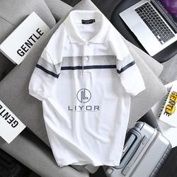 Áo thun nam [FREESHIP] áo phông có cổ cao cấp thiết kế sọc ngang vải thun cá sấu hàng xuất Liyorstore - ACB4057