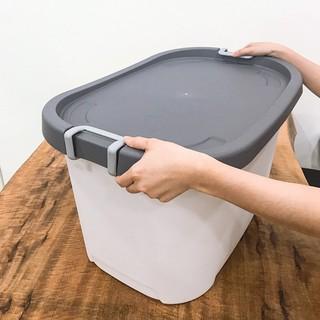 Thùng nhựa đa năng có quai- thùng nhựa lớn Curve living box 70l - LSB-LP-CL70-G thumbnail