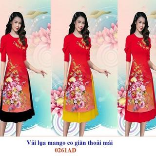 Áo dài cách tân bộ áo dài kèm chân váy có bán lẻ áo và lẻ chân váy - AD02 thumbnail