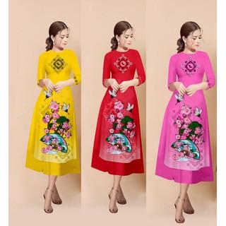 Áo dài cách tân kèm chân váy bộ áo dài có bán lẻ áo và lẻ chân váy - AD08 thumbnail