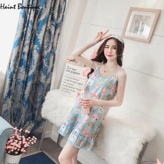 Váy mặc ở nhà Haint Boutqiue thiết kế 2 dây mát mẻ họa tiết cute vn28 - vn28 thumbnail