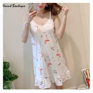 Váy ngủ Haint Boutique thiết kế 2 dây vải mềm hình hạc vn27 - vn27 thumbnail
