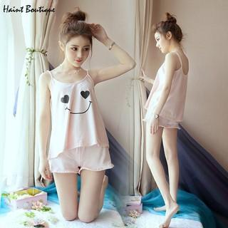 Bộ đồ ngủ Haint Boutique mặc siu thoải mái, hình mặt cười cute vn30 - vn30 thumbnail