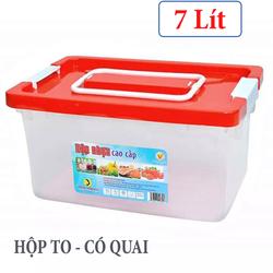 [DEAL XẢ - HỘP LỚN - 7 LÍT] Hộp nhựa có quai đa năng 7 Lít đựng thực phẩm, rau củ an toàn