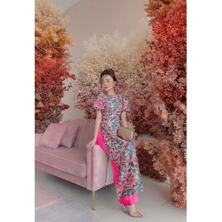Áo dài bộ áo dài nữ may sẵn có big size có bán lẻ quần lẻ áo và cả bộ - AD01 thumbnail