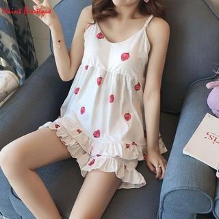Đồ bộ ở nhà Haint Boutique 2 dây họa tiết hình dâu dễ thương vn32 - vn32 thumbnail
