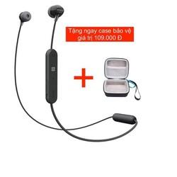 Tai nghe Bluetooth Sony WI - C300 Chính Hãng - Đen  Tặng case