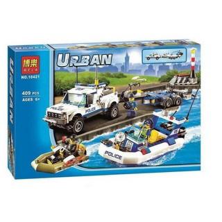 Đồ chơi lắp ráp xếp hình kiểu Lego city cities 10421 đội cảnh sát tuần tra cho trẻ em - 10421 thumbnail