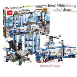Lắp ráp xếp hình Lego City c016 : Vụ cướp ngục xe trở phạm nhân tại trụ sở cảnh sát 1002 mảnh